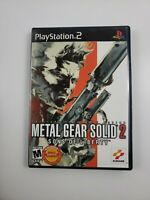 Metal Gear Solid 2 Sons of Liberty Sony PlayStation 2 2001 CIB Complete PS2