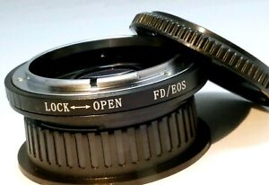 Adapter Canon manual FD Lens to EOS EF Mount camera with Glass Focus to Infinity