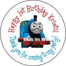 24 stickers 1.67 Inch Personalized round birthday thomas the train boys kids