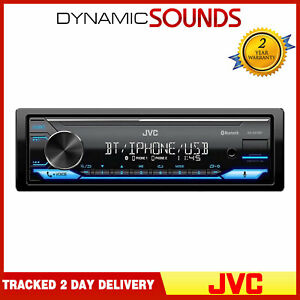 JVC KD-X372BT Alexa Bluetooth Mechless USB AUX iPod iPhone Car Stereo Radio