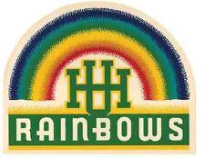 University of Hawaii   Vintage 1950's Style  Travel Decal  Honolulu Oahu Rainbow