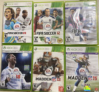 Xbox 360 Sports Games Bundle Lot Of 6 Madden, FIFA Soccer, Free Shipping