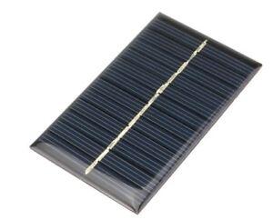 Mini pannello fotovoltaico 6v 110 mA 0,7W 90x55x2 mm
