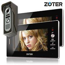 "7"" inch Video Door Phone House Gate Intercom with 2 Black Indoor Monitor Kit Set"