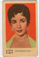 1960s Swedish Film Star Card Bilder A #116 British US Actress Elizabeth Taylor