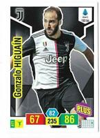 ADRENALYN XL CALCIATORI PANINI 2019-2020 CARD PLUS N. 160 bis HIGUAIN (JUVENTUS)