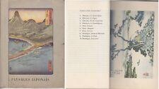 C1 JAPON Otto Kummel PAYSAGES JAPONAIS Gravures sur Bois en COULEURS 1956