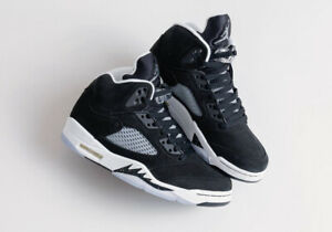 Nike Air Jordan Retro V 5 MOONLIGHT 2021 Oreo Black White CT4838-011 Men & GS