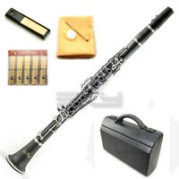 UPGRADED! SKY Band Approved Clarinet w ABS Carrying Case Cleaning Cloth and More