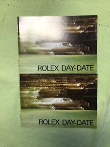 """Rolex Vintage """"Day-Date"""" Booklet 1987 USA English!"""