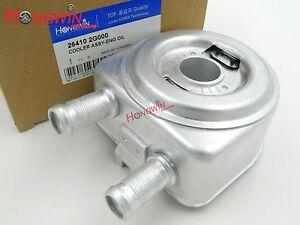 NovelBee 26410-2G000 Aluminum Engine Oil Cooler Replacement for Hyundai Kia Sonata Tucson Optima 2.0L 2.4L