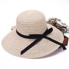 Flexibles Señoras Plegables Mujeres Paja Playa Viaje Verano Sombrero Sombrerería