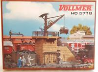 MINT VOLLMER 5718 HO - LOCOMOTIVE COALING STATION WITH CRANE 150 x 90 x 105 mm
