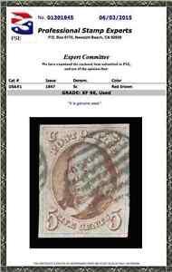 #1 Used PSE Graded 90 w/ Black Grid cancel, PSE Cert # 01301845, SMQ $675.00