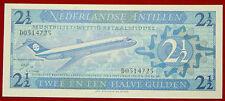 Antillas Holandesas 2 1/2 Gulden 8.9.1970 billete aviación P 21a
