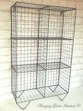 Vintage Industrial Style Metal Shelf Unit Rack Storage Cupboard Cabinet Wire NEW