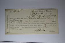 Interim Depository Receipt Savannah, (Ga)- $500 March 16, 1864 Tremmell Ga-136.