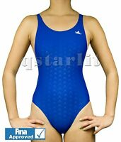 FINA Approved Girls Women Racing Competition Tech Swimsuit 24 26 28- 34 Blue