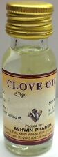 20ml CLOVE OIL, 100% PURE OF THE BEST QUALITY - NATURAL ANALGAESIC & ANTISEPTIC