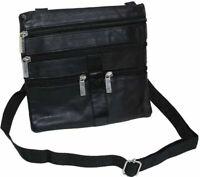 Schultertasche Neck-Wallet Bodybag Brustbeutel Lamm Nappa Leder i905