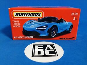 2021 MATCHBOX POWER GRABS McLAREN 720S SPIDER