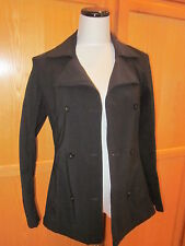 Patagonia Women's Double Breasted Jacket Trench Coat Size 4 Black Buttons