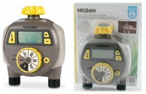 Nelson 56612 Dual Outlet Electric Water Timer with Large LCD Display