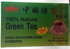 100% Natural Green Tea - Royal King - 100 BAGS - 2g each bag