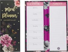 Beautiful Blooms Meal Planner & Shopping List Tear Off Pages Memo Pad