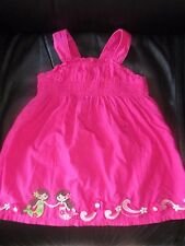 GYMBOREE PRETTY HOT PINK EMBROIDERED MERMAID DRESS 18 - 24 MOS