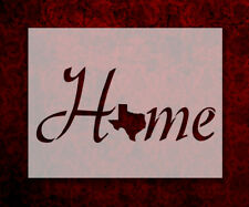 """Texas State Home Love 8.5"""" x 11"""" Stencil FAST FREE SHIPPING (709)"""