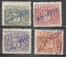 7004-raros sellos locales Oviedo Asturias España guerra civil,fiscales?.