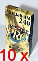 10 x Video Kassette Leer Fuji Super VHS Pro SE-240 SE 240 SVHS S-VHS = 8,90€/St.