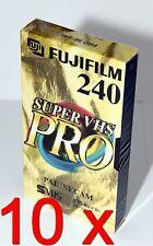 10 x Video Kassette Leer Fuji Super VHS Pro SE-240 SE 240 SVHS S-VHS = 9,90€/St.