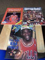 1991 Michael Jordan MVP NBA Rare Lot Collector's Edition Yearbook Chicago Bulls