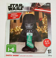Star Wars Darth Vader Holiday Outdoor 5 ft Airblown Inflatable