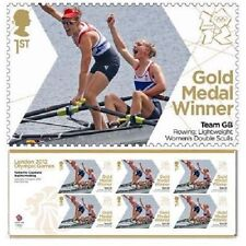 GB Olympic Gold Medal Copeland Hosking Rowing miniature sheet MNH 2012