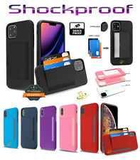 Samsung GALAXY A71 5G Wallet Case 3 Cards Holder Rubber Protective Hybrid Cover