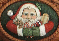 Ceramic Bisque 2 Dona's Santa Claus Insert Ready to Paint U-Paint Christmas