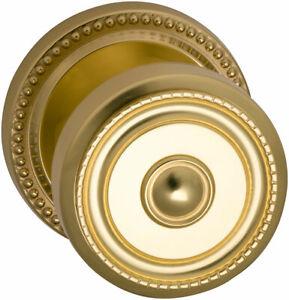Omnia Ornate Passage Door Knob Set, Polished Brass Solid Knobset 430 00 PA1 US3