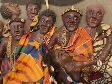 "Hand Carved WALL ART ""Tribal People Dancing Or Worshoping Ghana  AFRICAN?"