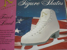 Girls American Figure Skates 512 Solid White Size 2 New
