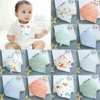 Soft Cotton Infant Baby Bibs Feeding Saliva Towel Triangle Bandana Cute Scarf