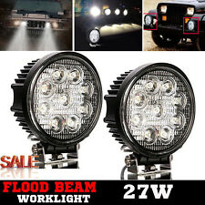 LED 27W Work Spotlight Flood Beam Recovery Pickup Truck Van Boat SUV Lamp 2Pcs