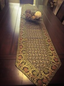 Table Runner, Tapestry, Brocade,72 and 80 Inch, Silk, Beautiful, Formal, Paisley