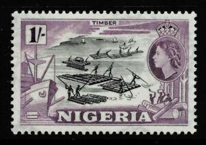 """NIGERIA 1953-58 SG76 1/- """"TIMBER"""" -  MNH"""