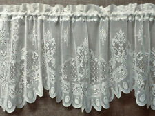 "White Lace Window Valance Versaille 60"" x 21"" Kitchen Bedroom Livingroom"