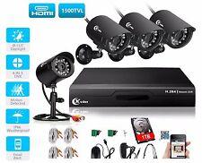 XVIM 4CH 720P DVR 1500TVL Home Security CCTV Camera System IR Night Outdoor 1TB