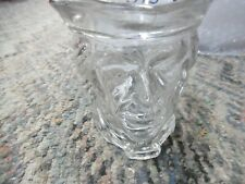 Vintage Avon clear glass colonial head candle holder