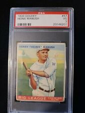 1933 Goudey Heinie Manush #47 PSA 3 VG.  Check out my other listings!